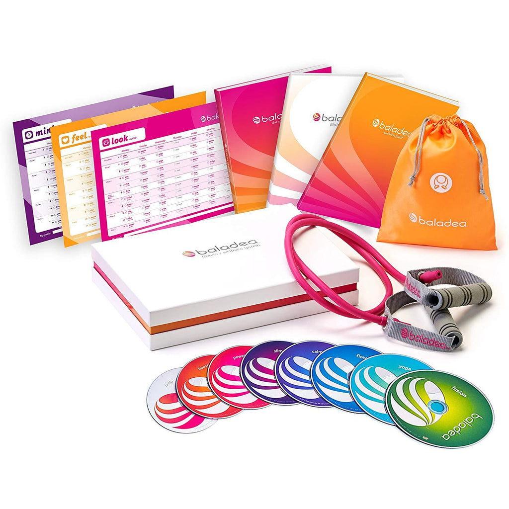 (Limited Quantities) baladea Fitness and Wellness System - 8 DVD set - Collage Video