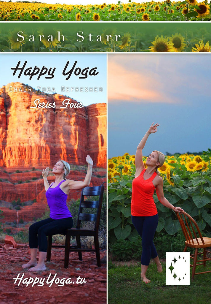 Happy Yoga with Sarah Starr: Chair Yoga Refreshed- Series Four - Collage Video