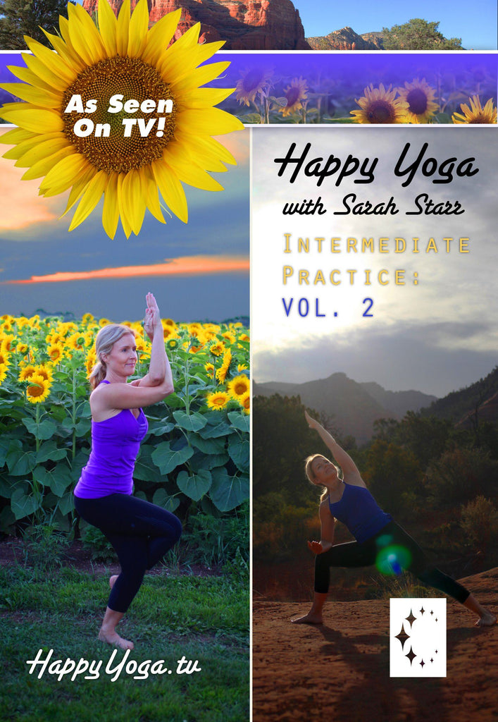 Happy Yoga with Sarah Star: Intermediate Volume 2 - Collage Video