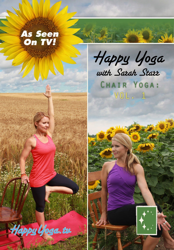 Happy Yoga with Sarah Starr: Chair Yoga Volume 1 - Collage Video