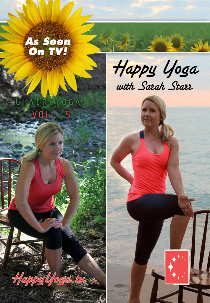 Happy Yoga with Sarah Starr: Chair Yoga Volume 5 - Collage Video