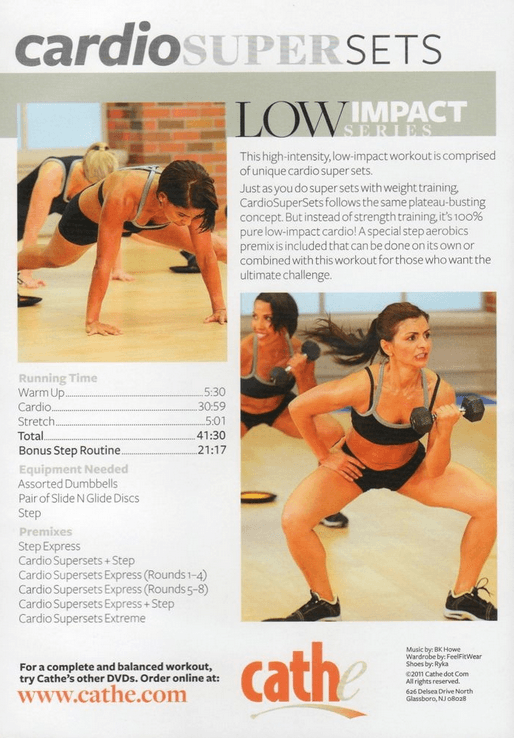 Cathe Friedrich's Cardio Supersets