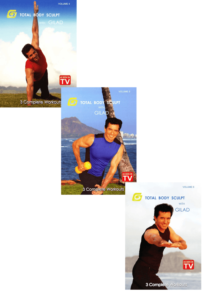 Gilad's Total Body Sculpt (TV series Vol. 4-6) - Collage Video