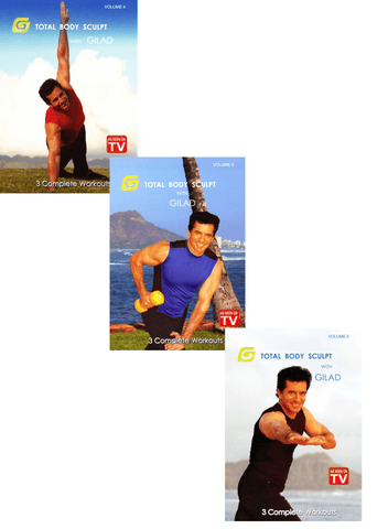 Gilad's Total Body Sculpt (TV series Vol. 4-6) Bundle