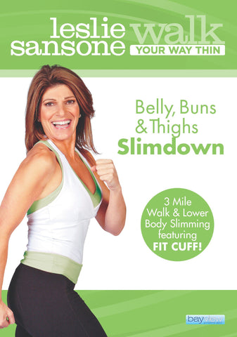 (NEW TO COLLAGE!) Leslie Sansone: Walk Your Way Thin - Belly, Buns, & Thighs Slimdown