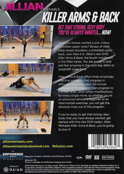 Jillian Michaels Killer Arms & Back – Collage Video