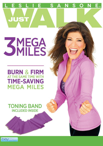 Leslie Sansone: 3 Mega Miles - Includes Free Toning Band!