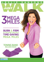 Leslie Sansone: 3 Mega Miles - Includes Free Toning Band! - Collage Video