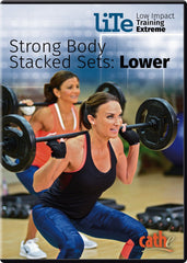 Cathe Friedrich's LITE Strong Body Stacked Sets: Lower - Collage Video