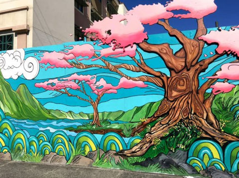Mural in McCully/Moliili