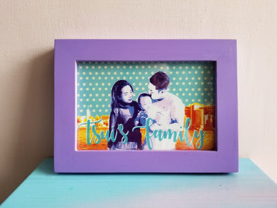 POPDUCTION 4R PopArt Style Print Out Photo with Frame -Just too Sweet - Babies and Kids Concept Store