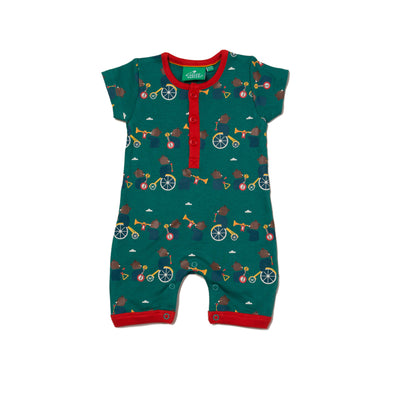 Little Green Radicals THE BEAR JAMBOEE Organic Shortie Romper -Just too Sweet - Babies and Kids Concept Store