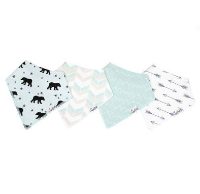 Copper Pearl ARCHER baby bandana bib set (4-pack) -Just too Sweet - Babies and Kids Concept Store