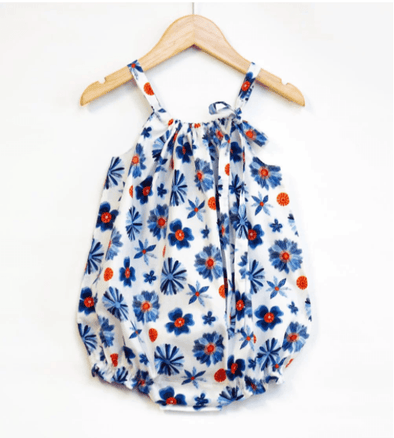 Organic Minikins BLOOMS Organic cotton Romper -Just too Sweet - Babies and Kids Concept Store