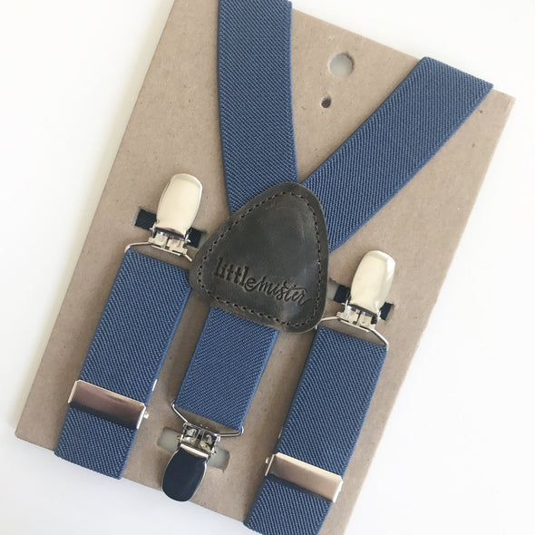 Little Mister BLUE baby toddler & boy suspender -Just too Sweet - Babies and Kids Concept Store