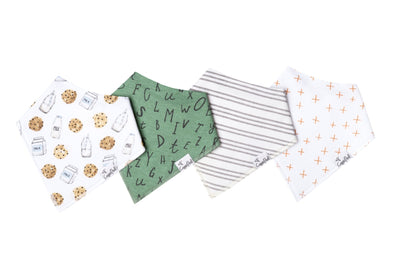 Copper Pearl CHIP baby bandana bib set (4-pack) -Just too Sweet - Babies and Kids Concept Store