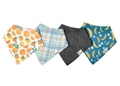 Copper Pearl CITRUS baby bandana bib set (4-pack) -Just too Sweet - Babies and Kids Concept Store