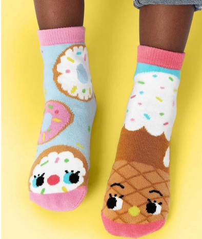 Pals DONUT & ICE CREAM kids mismatched socks (1-3Y) -Just too Sweet - Babies and Kids Concept Store