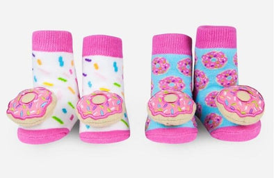 Waddle & Friends DONUT Rattle socks (0-9M) -Just too Sweet - Babies and Kids Concept Store