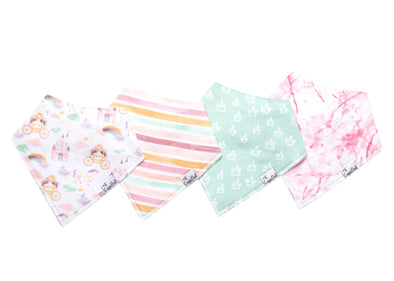 Copper Pearl ENCHANTED baby bandana bib set (4-pack) -Just too Sweet - Babies and Kids Concept Store