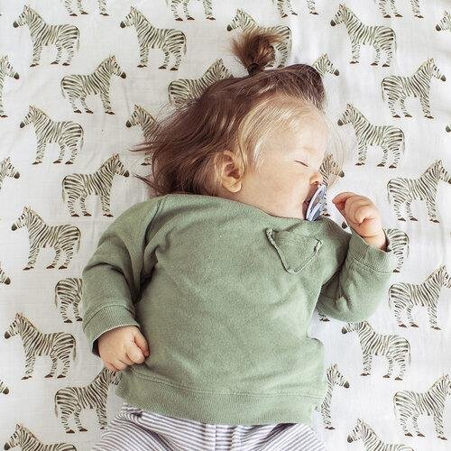 The Fox In The Attic Fitted Muslin Cot Sheet ~ ZEBRA -Just too Sweet - Babies and Kids Concept Store