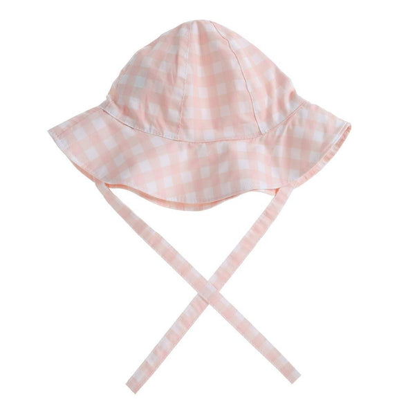 "Willow Swim ""FRANKIE"" IN NEUTRAL GINGHAM hat -Just too Sweet - Babies and Kids Concept Store"
