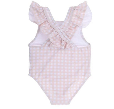 "Willow Swim ""GRACIE"" IN PEACHY GINGHAM -Just too Sweet - Babies and Kids Concept Store"