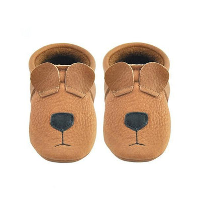 Little Lambo Handcrafted Moccasins - BEAR -Just too Sweet - Babies and Kids Concept Store