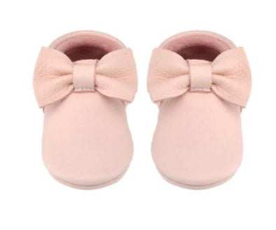 Little Lambo Handcrafted Moccasins - BLUSH BOW -Just too Sweet - Babies and Kids Concept Store