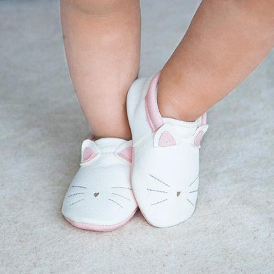 Little Lambo Handcrafted Moccasins - KITTY -Just too Sweet - Babies and Kids Concept Store