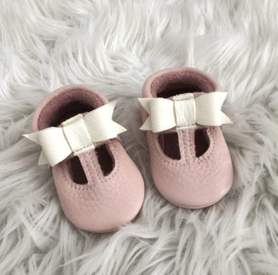 Little Lambo Handcrafted Moccasins - MARY JANE BLUSH -Just too Sweet - Babies and Kids Concept Store