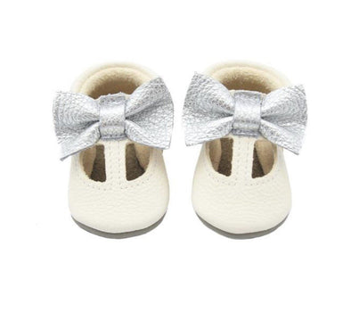 Little Lambo Handcrafted Moccasins - MARY JANE WHITE -Just too Sweet - Babies and Kids Concept Store