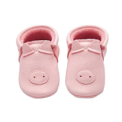 Little Lambo Handcrafted moccasins - PIGGY -Just too Sweet - Babies and Kids Concept Store