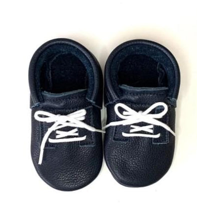 Little Lambo Handcrafted Moccasins - SNEAK UP DARK BLUE -Just too Sweet - Babies and Kids Concept Store