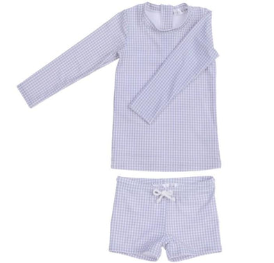 "Willow Swim ""HARRISON"" IN CLOUD GINGHAM -Just too Sweet - Babies and Kids Concept Store"
