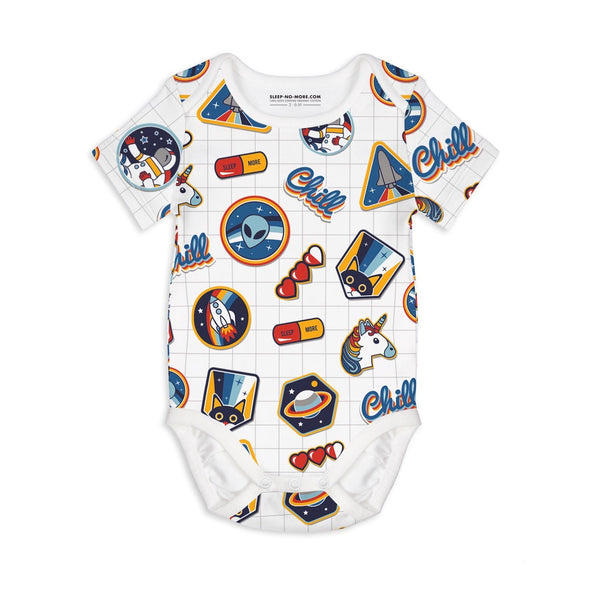 Sleep no more I NEED SPACE organic s/s bodysuit -Just too Sweet - Babies and Kids Concept Store