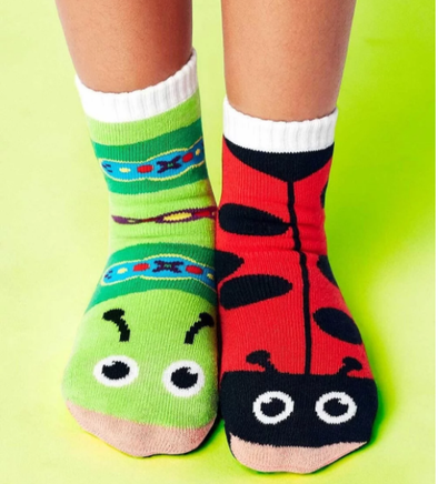 Pals LADYBUG & CATERPILLAR kids mismatched socks (1-3Y) -Just too Sweet - Babies and Kids Concept Store