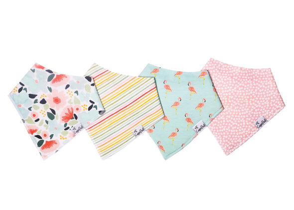 Copper Pearl LEILANI baby bandana bib set (4-pack) -Just too Sweet - Babies and Kids Concept Store