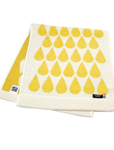 Kuen Mo Zakkaten Lotta Droppe Bath Towel (YELLOW) -Just too Sweet - Babies and Kids Concept Store