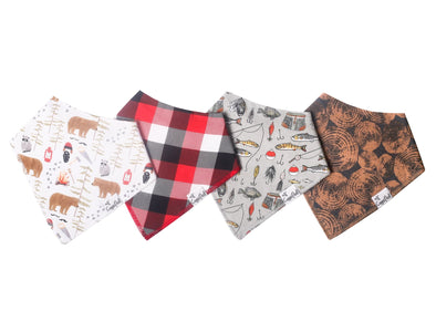 Copper Pearl LUMBERJACK baby bandana bib set (4-pack) -Just too Sweet - Babies and Kids Concept Store