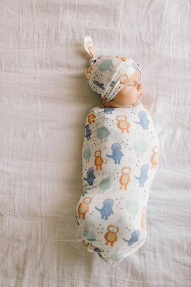 Copper Pearl MAX knit swaddle & knot hat set -Just too Sweet - Babies and Kids Concept Store