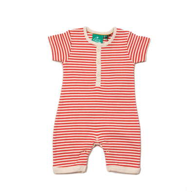 Little Green Radicals Nautical Striped Organic Shortie Romper -Just too Sweet - Babies and Kids Concept Store