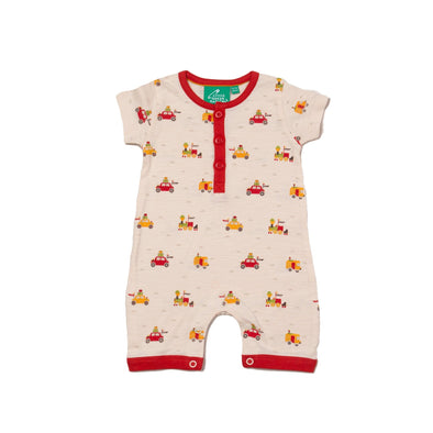 Little Green Radicals Off On A Journey Organic Shortie Romper -Just too Sweet - Babies and Kids Concept Store