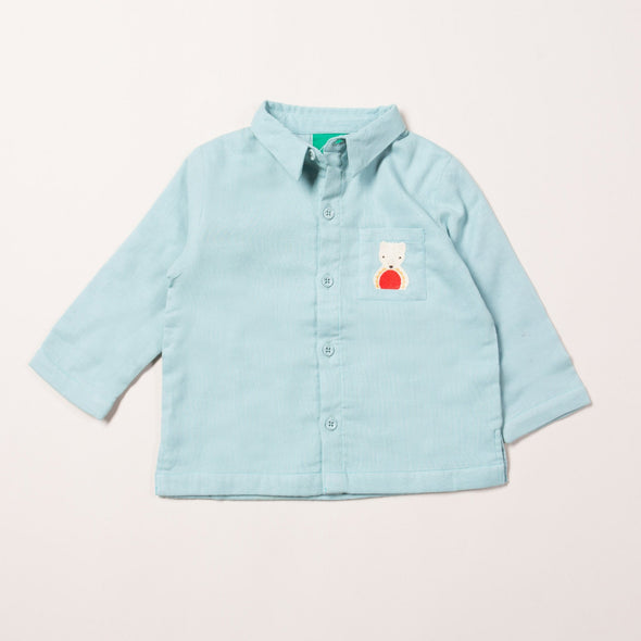 Little Green Radicals Orangic Polar Bear Embroidered Shirt -Just too Sweet - Babies and Kids Concept Store