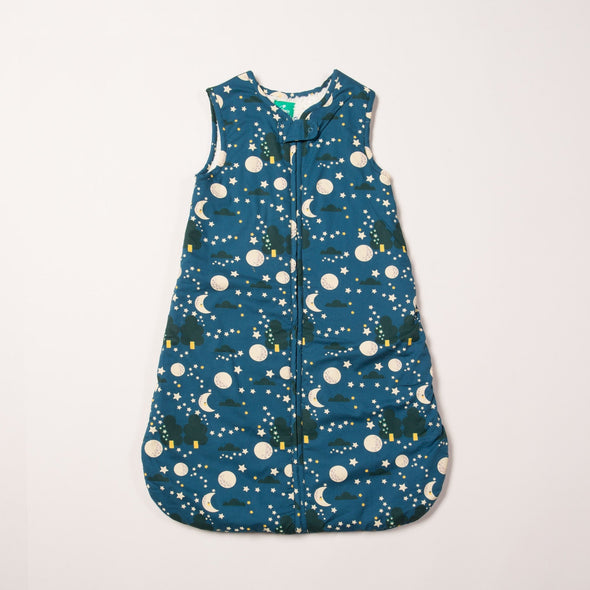 Little Green Radicals Organic Moon & Stars Snuggly Slumbers Sleeping Bag 2 Tog -Just too Sweet - Babies and Kids Concept Store