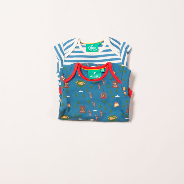 Little Green Radicals Organic Norse Forest 2-Pack L/S Baby Body Set -Just too Sweet - Babies and Kids Concept Store