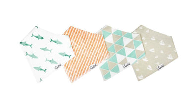 Copper Pearl PACIFIC baby bandana bib set (4-pack) -Just too Sweet - Babies and Kids Concept Store