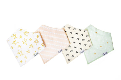 Copper Pearl PARIS baby bandana bib set (4-pack) -Just too Sweet - Babies and Kids Concept Store