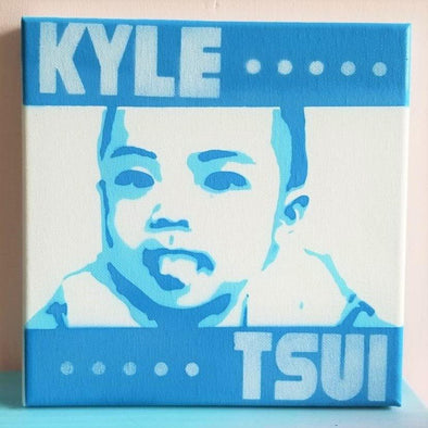 POPDUCTION PopArt Handmade Spray Painting (20x20cm) -Just too Sweet - Babies and Kids Concept Store