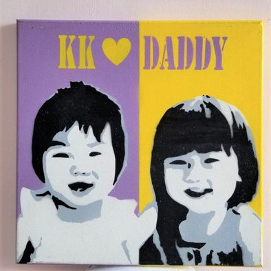 POPDUCTION PopArt Handmade Spray Painting (30x30cm) -Just too Sweet - Babies and Kids Concept Store
